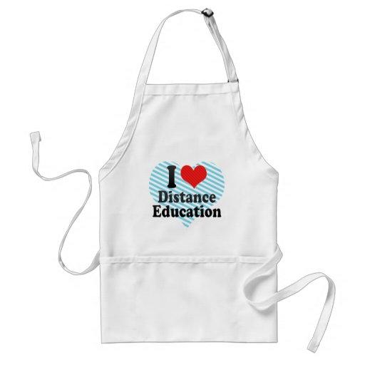 I Love Distance Education Apron