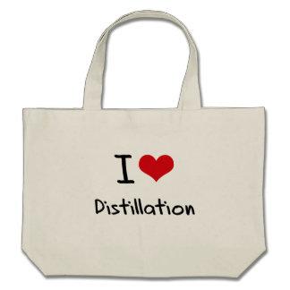 I Love Distillation Canvas Bags
