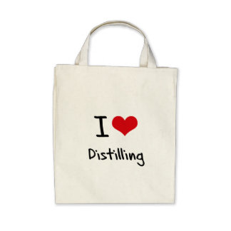 I Love Distilling Canvas Bags