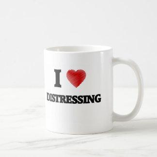 I love Distressing Basic White Mug