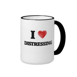 I love Distressing Ringer Mug