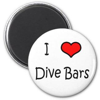 I Love Dive Bars 6 Cm Round Magnet