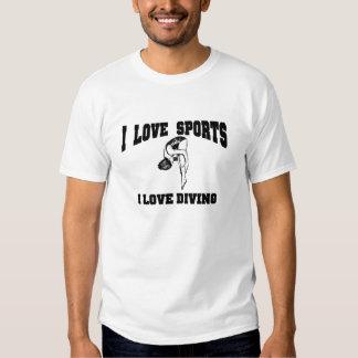 I love diving tee shirt