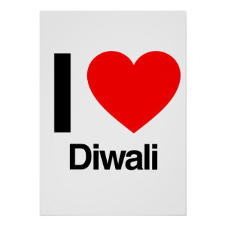 i love diwali posters