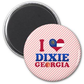 I Love Dixie, Georgia Refrigerator Magnet