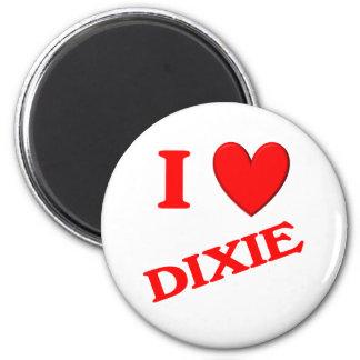 I Love Dixie Refrigerator Magnet