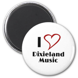 I Love Dixieland Music Fridge Magnets