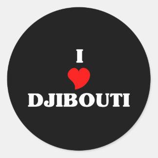 I Love Djibouti Classic Round Sticker