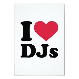 I love DJs 9 Cm X 13 Cm Invitation Card
