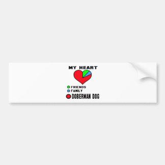 I love Doberman. Bumper Sticker