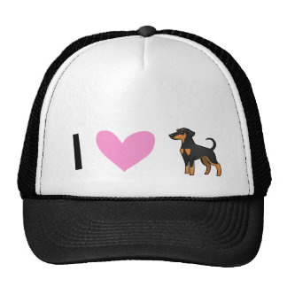 I Love Doberman Pinschers (floppy ears) Cap