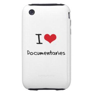 I Love Documentaries iPhone 3 Tough Case