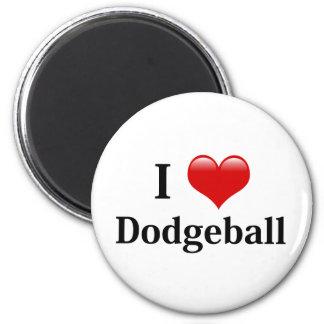 I Love Dodgeball 6 Cm Round Magnet
