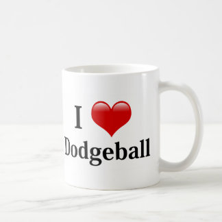 I Love Dodgeball Basic White Mug