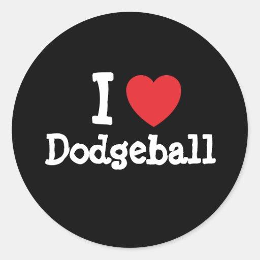 I love Dodgeball heart custom personalized Sticker