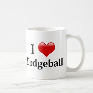 I Love Dodgeball Basic White Mug