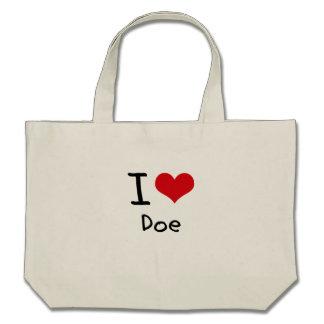 I Love Doe Canvas Bag