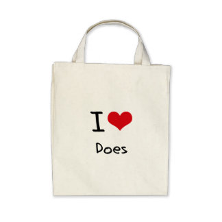 I Love Does Tote Bag