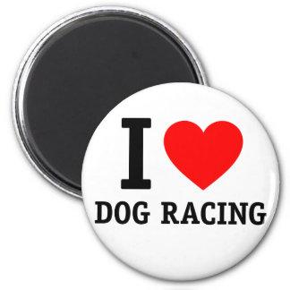 I Love Dog Racing Refrigerator Magnets