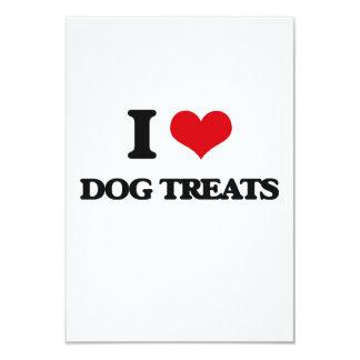 """I love Dog Treats 3.5"""" X 5"""" Invitation Card"""