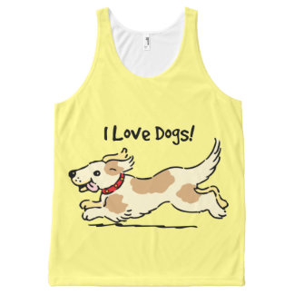 I Love Dogs All-Over Print Tank Top