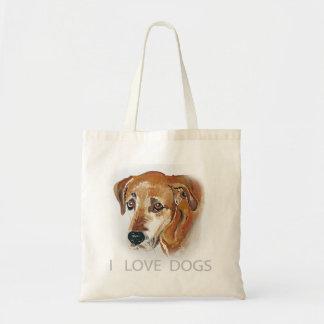 I love dogs. bag