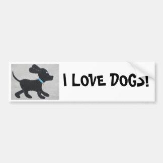I LOVE DOGS! BUMPER STICKERS