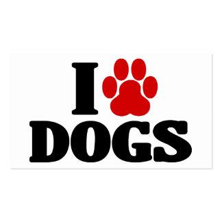 I Love Dogs Emblem Pack Of Standard Business Cards