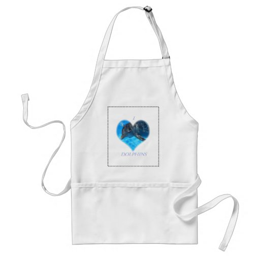 i love dolphins aprons