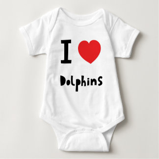 I love Dolphins Baby Bodysuit