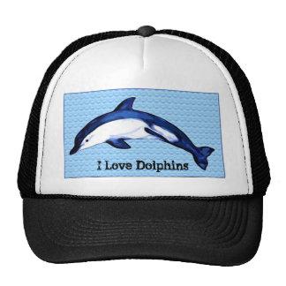 I Love Dolphins Cap