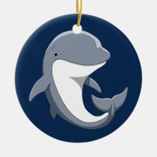 I Love Dolphins Cute Bottlenose Christmas Ornament