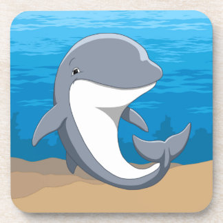 I Love Dolphins Cute Bottlenose Coaster
