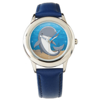 I Love Dolphins Cute Bottlenose Watch