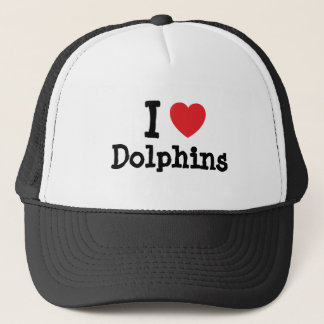 I love Dolphins heart custom personalized Trucker Hat