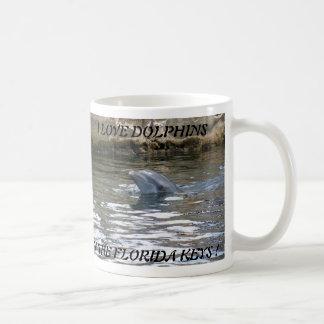 I LOVE DOLPHINS IN THE FLORIDA KEYS ... BASIC WHITE MUG