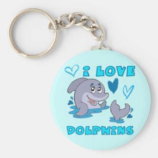 I Love Dolphins Key Ring
