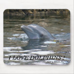 I LOVE DOLPHINS ! MOUSE PAD