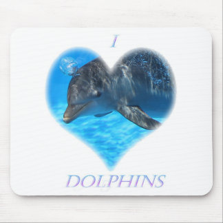 i love dolphins mouse pads