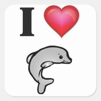 I love dolphins sticker