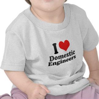 I Love Domestic Engineers Tee Shirt