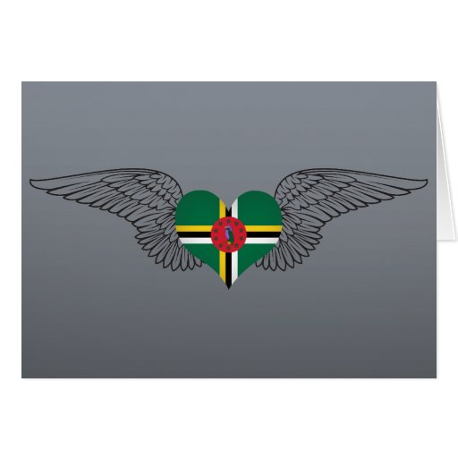 I Love Dominica -wings Greeting Cards