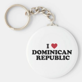I Love Dominican Republic Basic Round Button Key Ring