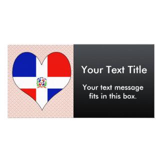 I Love Dominican Republic Customized Photo Card