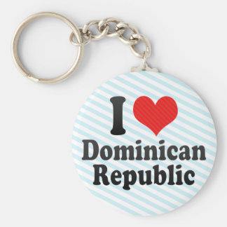 I Love Dominican+Republic Key Ring