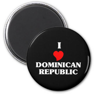 I Love Dominican Republic Magnet