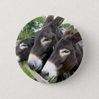 I Love Donkeys! 6 Cm Round Badge