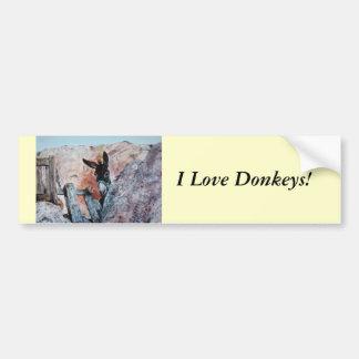 I Love Donkeys! Bumper Sticker