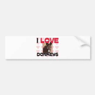 I Love Donkeys Bumper Sticker