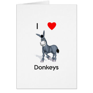 I love donkeys greeting card